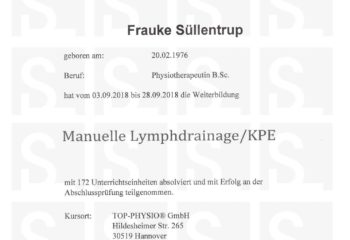 Manuelle-Lymphdrainage_Zertifikat